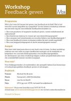 Programma Workshop Feedback